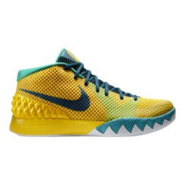 Nike Men's Kyrie 1 Basketball Shoes - Yellow/Teal Blue