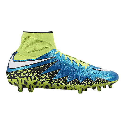 99acce319689 Nike Women s HyperVenom Phantom II FG World Cup Outdoor Soccer Cleats -  Blue Yellow