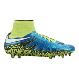 Nike Women's HyperVenom Phantom II FG World Cup Outdoor Soccer Cleats - Blue/Yellow