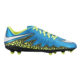 Nike Women's HyperVenom Phelon II WC FG Outdoor Soccer Cleats - Blue/Volt Green/Black