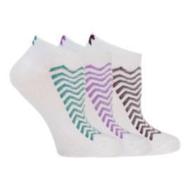 Diadora Zigzag Women's No Show Socks - 3-Pack