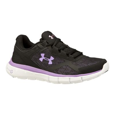 Under Armour Women's Micro G Velocity RN Running Shoes - Black/Purple/White