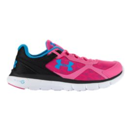 Under Armour Women's Micro G Velocity RN Running Shoes - Pink/Blue/Black