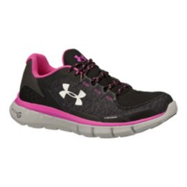 Under Armour Women's Micro G Velocity Storm RN Running Shoes - Black/Pink