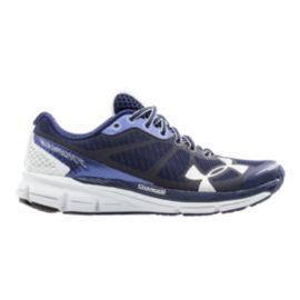 Under Armour Women's Charged Bandit Running Shoes - Navy Blue/Grey/White