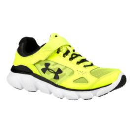 Under Armour Kids' Micro-G Assert V AC Preschool Running Shoes - Yellow/White/Black