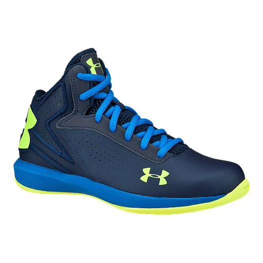 online retailer 7681d a50c9 Under Armour Kids  Micro-G Torch Grade School Basketball Shoes - Academy  Blue Yellow   Sport Chek