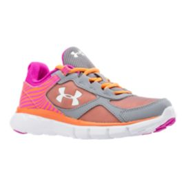 Under Armour Mirco-G Velocity Girls' Pre-School Running Shoes