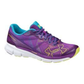 Under Armour Women's Charged Bandit Running Shoes - Purple/Blue/Yellow