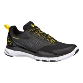Under Armour Men's Charged One TR Training Shoes -Black/Yellow/White