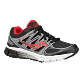 Saucony Kids' Zealot Grade School Running Shoes - Black/Red/Silver