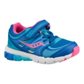 Saucony Toddler Girls Baby Zealot Running Shoes - Blue/Pink