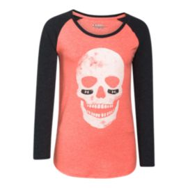 Under Armour Glow Skull Girls' Long Sleeve Raglan Tee