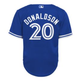 Toronto Blue Jays Toddler Donaldson Cool Base Replica Henley Jersey