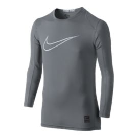 Nike Pro Boys' Cool HBR Long Sleeve Fitted Shirt