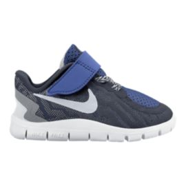 Nike Toddler Free 5.0 Athletic Shoes - Obsidian/Grey/Silver