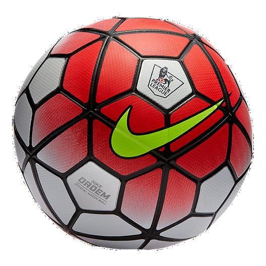 2675ed4b1c2 Nike Ordem 3 Premier League Soccer Ball - White Crimson