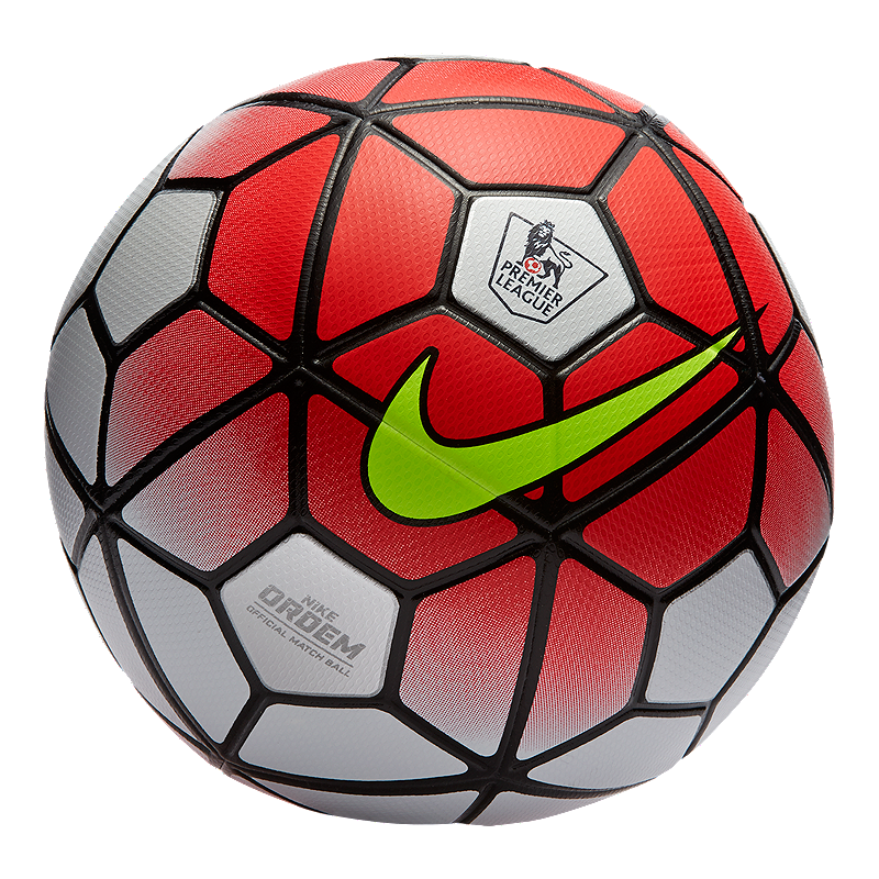 Nike Ordem 3 Premier League Soccer Ball White Crimson