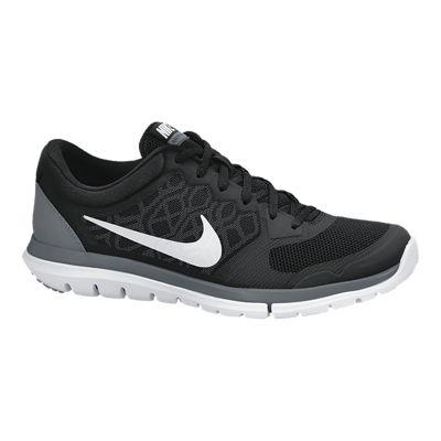 Nike Men's Flex Run 2015 Running Shoes - Black/White