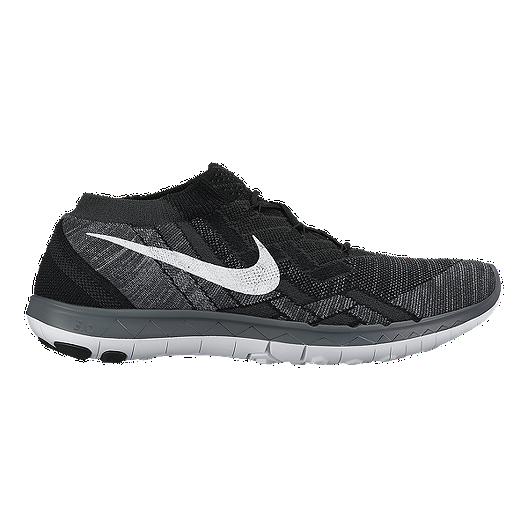online store e2b10 f1319 Nike Men s Free FlyKnit 3.0 Running Shoes - Black White Grey   Sport Chek