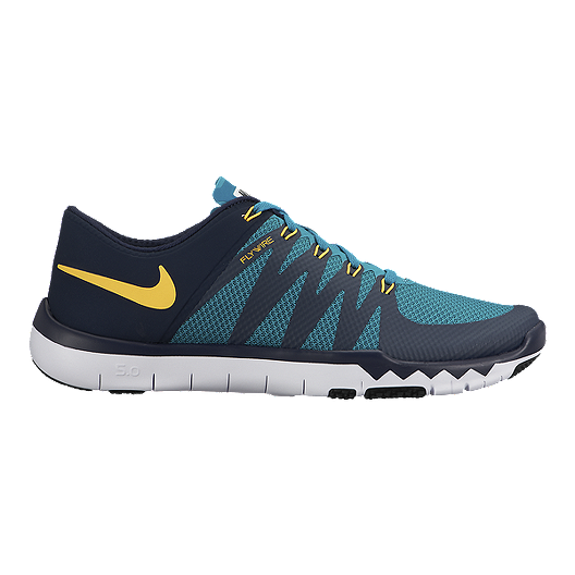 676f21817d0a Nike Men s Free Trainer 5.0 V6 Training Shoes - Blue Black Yellow ...