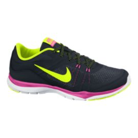 Nike Women's Flex TR 5 Training Shoes - Black/Pink/Yellow
