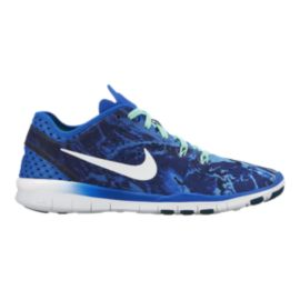 Nike Women's Free 5.0 TR Fit 4 Training Shoes - Royal Blue Camo