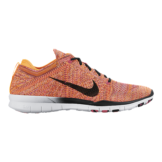 info for 91a21 d040c Nike Women s Free Flyknit TR Training Shoes - Orange Pink Black   Sport Chek