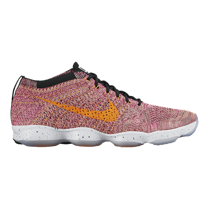 new product fdbb8 9ca24 Nike Women s Flyknit Zoom Agility Training Shoes - Pink Orange   Sport Chek