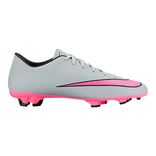 a1584151b Nike Men s Mercurial Victory V FG Outdoor Soccer Cleats - Grey Pink Black.  (0). View Description
