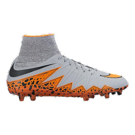 ae396ccba699 Nike Men s HyperVenom Phantom 2 FG Outdoor Soccer Cleats - Grey Orange Black