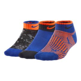 Nike Graphic Low Cut Kids' Socks 3 - Pack
