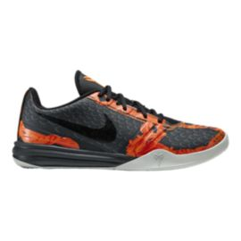 Nike Men's KB Mentality Basketball Shoes - Grey/Orange/Black
