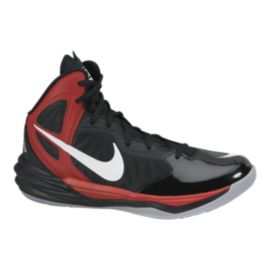 Nike Men's Prime Hype DF Basketball Shoes - Black/Red