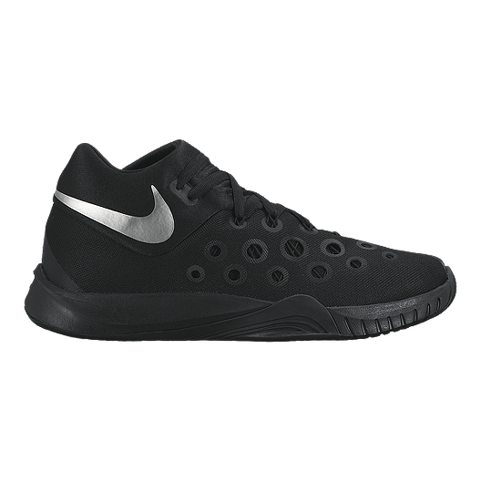 a0caf59d0bbe Nike Men s Hyperquickness Basketball Shoes - Black Silver