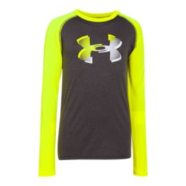 Under Armour Long Sleeve Big Logo Tech Kids' T Shirt
