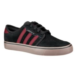 adidas Kids' Seeley Grade School Skate Shoes - Black/Burgundy/Gum