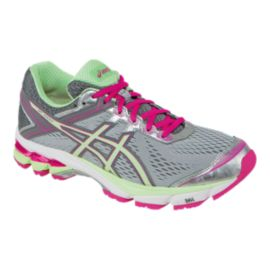 ASICS Women's GT-1000 4 Running Shoes - Grey/Berry/Mint Green