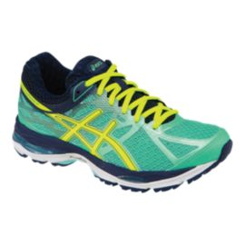 ASICS Women's Gel Cumulus 17 Running Shoes - Aqua Blue/Navy/Yellow