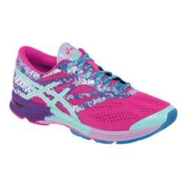 ASICS Women's Gel Noosa Tri 10 Running Shoes - Pink/Purple Pattern/Blue