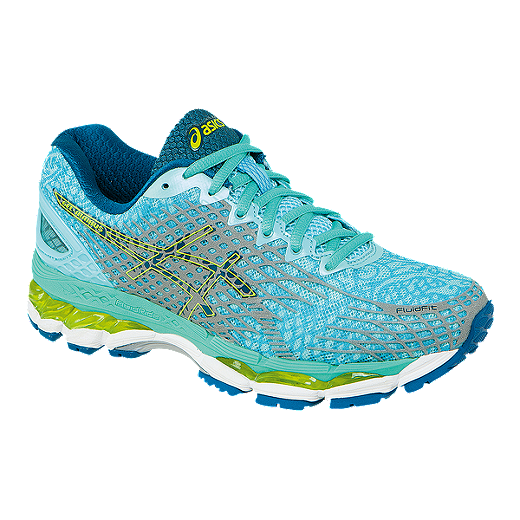 design de qualité cca49 dbb86 ASICS Women's Gel Nimbus 17 LS Running Shoes - Aqua Blue ...