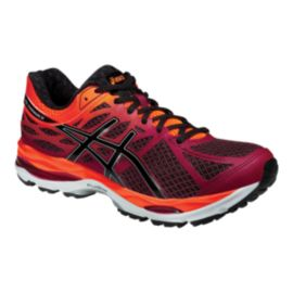 ASICS Men's Gel Cumulus 17 Running Shoes - Ruby Red/Orange/Black