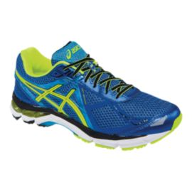ASICS Men's GT-2000 3 Running Shoes - Blue/Lime Green/Black