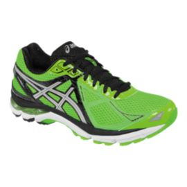ASICS Men's GT-2000 3 Running Shoes - Green/Black/Silver