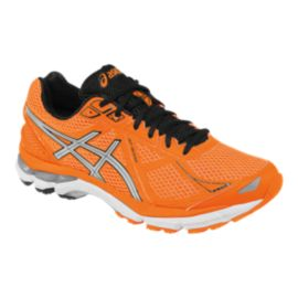 ASICS Men's GT-2000 3 Running Shoes - Orange/Black/Silver