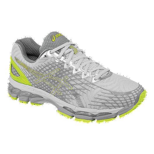détaillant en ligne cea1d b5e2b ASICS Men's Gel Nimbus 17 Running Shoes - Silver/Lime Green ...