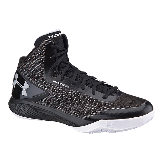 4db310cf72b1 Under Armour Men s ClutchFit Drive II Basketball Shoes - Black Silver White