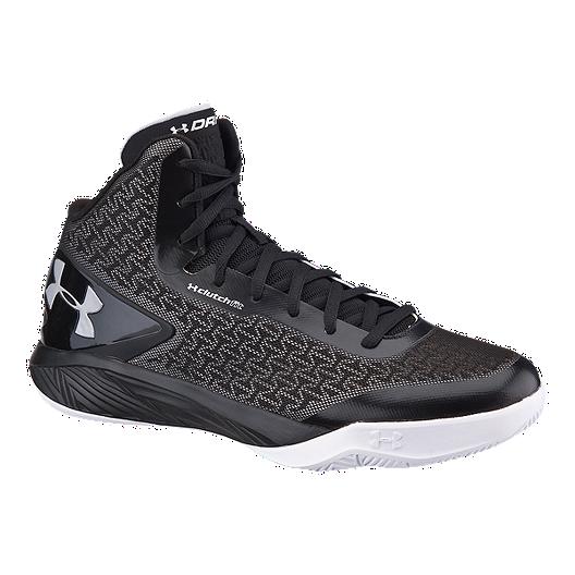 4db310cf72b1 Under Armour Men s ClutchFit Drive II Basketball Shoes - Black Silver White