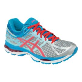 ASICS Women's Gel Cumulus 17 Running Shoes - Silver/Blue/Pink