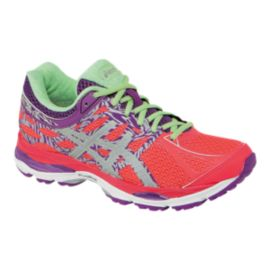 ASICS Women's Gel Cumulus 17 LS Running Shoes - Pink/Purple Pattern/Mint Green